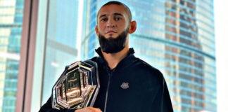Ο Chimaev με τη ζώνη του UFC που θέλει να κατακτήσει το 2021