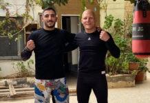 Ο Ali AlQaisi (δεξιά) είπε αντίο στο UFC